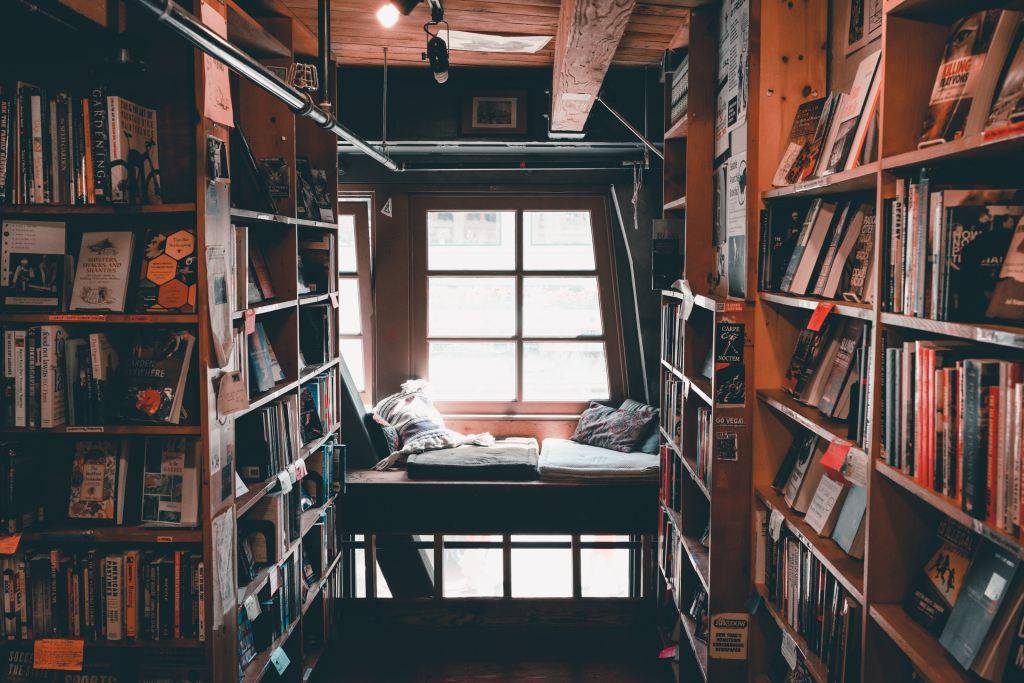 nook surrounded by books
